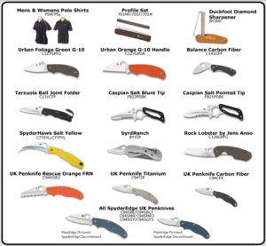 comparison spyderco knife chart