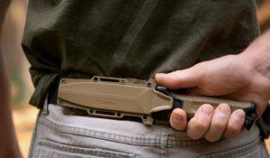 knife on belt